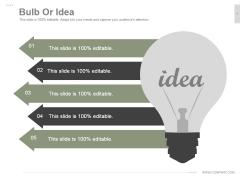 Bulb Or Idea Ppt PowerPoint Presentation Designs