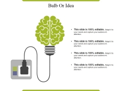 Bulb Or Idea Ppt PowerPoint Presentation Example