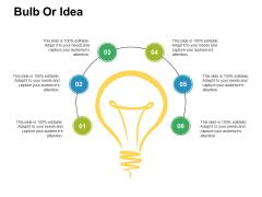 Bulb Or Idea Ppt PowerPoint Presentation File Grid
