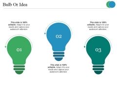 Bulb Or Idea Ppt PowerPoint Presentation Icon