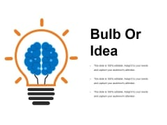Bulb Or Idea Ppt PowerPoint Presentation Ideas Diagrams
