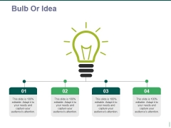 bulb or idea ppt powerpoint presentation ideas graphics example