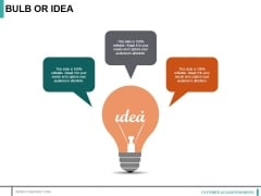 Bulb Or Idea Ppt PowerPoint Presentation Ideas Layout