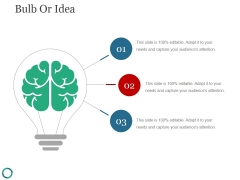 Bulb Or Idea Ppt PowerPoint Presentation Ideas