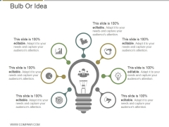 Bulb Or Idea Ppt PowerPoint Presentation Information