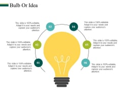 Bulb Or Idea Ppt PowerPoint Presentation Inspiration Images