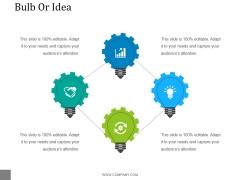 Bulb Or Idea Ppt PowerPoint Presentation Introduction