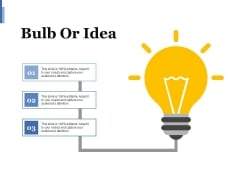 Bulb Or Idea Ppt PowerPoint Presentation Layouts Design Ideas