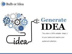 Bulb Or Idea Ppt PowerPoint Presentation Outline Deck