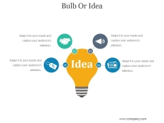 Bulb Or Idea Ppt PowerPoint Presentation Picture