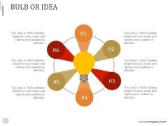 Bulb Or Idea Ppt PowerPoint Presentation Rules