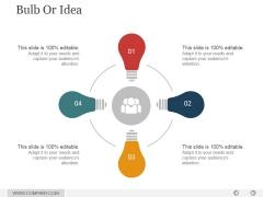 Bulb Or Idea Ppt PowerPoint Presentation Shapes