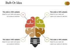 Bulb Or Idea Ppt PowerPoint Presentation Slides Background Designs