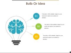 Bulb Or Idea Ppt PowerPoint Presentation Styles Maker