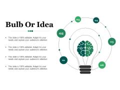Bulb Or Idea Ppt PowerPoint Presentation Styles Outline
