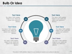 Bulb Or Idea Ppt PowerPoint Presentation Styles Slide Download