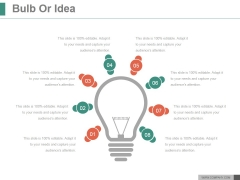 Bulb Or Idea Ppt PowerPoint Presentation Summary
