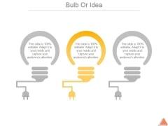 Bulb Or Idea Ppt PowerPoint Presentation Tips