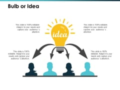 Bulb Or Idea Talent Mapping Ppt PowerPoint Presentation Visual Aids Portfolio