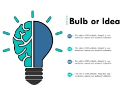 Bulb Or Idea Technology Innovation Ppt PowerPoint Presentation Inspiration Show