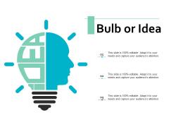 Bulb Or Idea Technology Marketing Ppt PowerPoint Presentation Ideas Brochure