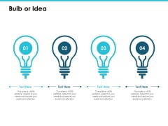 Bulb Or Idea Technology Marketing Ppt PowerPoint Presentation Inspiration Professional