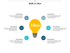 Bulb Or Idea Technology Ppt PowerPoint Presentation Clipart