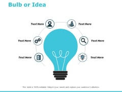Bulb Or Idea Technology Ppt PowerPoint Presentation Infographics Master Slide