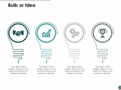 Bulb Or Idea Technology Ppt Powerpoint Presentation Professional Templates