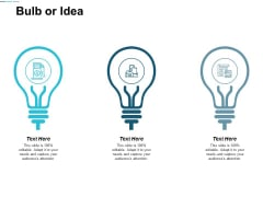 Bulb Or Idea Technology Ppt Powerpoint Presentation Summary Background
