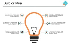 Bulb Or Idea Technology Process Ppt PowerPoint Presentation Portfolio Show