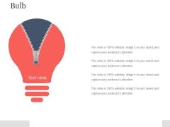 Bulb Ppt PowerPoint Presentation Infographics