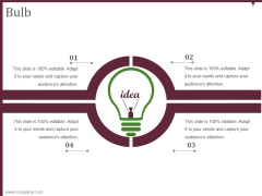 bulb ppt powerpoint presentation layouts