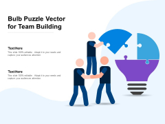 Bulb Puzzle Vector For Team Building Ppt PowerPoint Presentation Summary Gallery