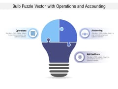 Bulb Puzzle Vector With Operations And Accounting Ppt PowerPoint Presentation Infographics Elements