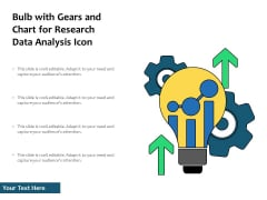Bulb With Gears And Chart For Research Data Analysis Icon Ppt PowerPoint Presentation File Inspiration PDF