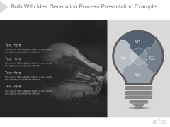 Bulb With Idea Generation Process Ppt PowerPoint Presentation Styles