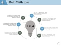 Bulb With Idea Ppt PowerPoint Presentation Layout