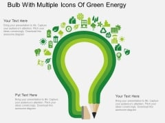 Bulb With Multiple Icons Of Green Energy Powerpoint Template