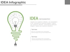 Bulb With Plug For Innovative Idea Powerpoint Slides