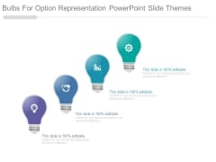 Bulbs For Option Representation Powerpoint Slide Themes