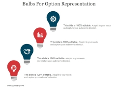 Bulbs For Option Representation Ppt PowerPoint Presentation Layouts