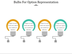 Bulbs For Option Representation Ppt PowerPoint Presentation Model Objects