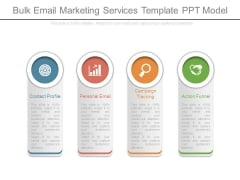Bulk Email Marketing Services Template Ppt Model