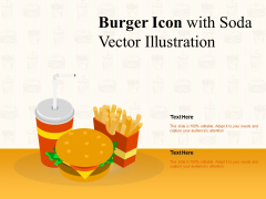 Burger Icon With Soda Vector Illustration Ppt PowerPoint Presentationmodel Brochure