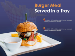 Burger Meal Served In A Tray Ppt PowerPoint Presentation Infographic Template Background
