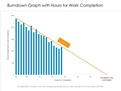 Burndown Graph With Hours For Work Completion Ppt PowerPoint Presentation Professional Pictures PDF