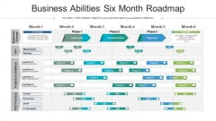 Business Abilities Six Month Roadmap Structure