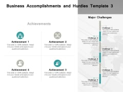 Business Accomplishments And Hurdles Achievements Ppt PowerPoint Presentation Slides Vector