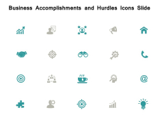 Business Accomplishments And Hurdles Icons Slide Opportunity Ppt PowerPoint Presentation Gallery File Formats